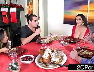 Sultry carefree mom ava addams copulates their way daughter's boyfriends on christmas