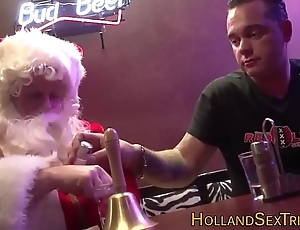 Dutch termagant bangs santa