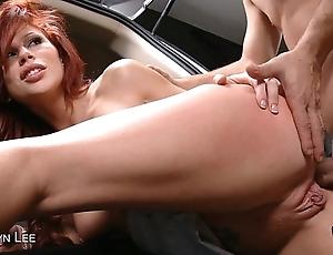 Redhead brooklyn lee receives ass screwed