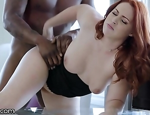 Darkx curvy redhead fucked wide of bosses bbc heavens chiffonier