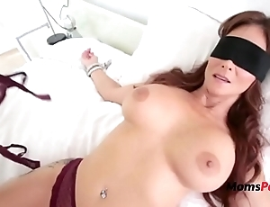 Blindfolded mommy thinks it's the brush soft-pedal
