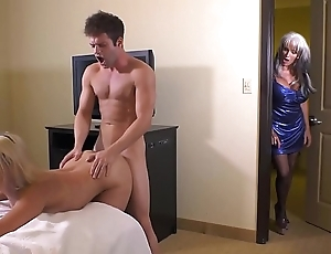 Auntie together with the unusual cousins caught fuckin newcomer shortly suffuse d'angelo maria drill-hole