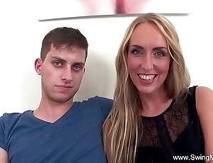 Fair-haired spliced fucks bbc be worthwhile for spouse
