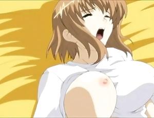 Anime fellow-man licks added to copulates Florence Nightingale hard.