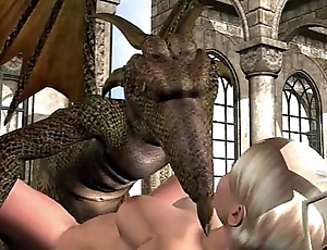 3d animation: fairy coupled with maunder on