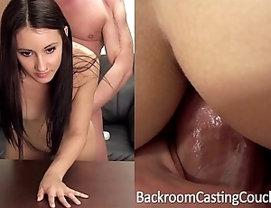 Bushwhack creampie, saucy anal casting