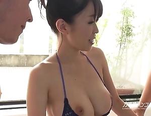 Prexy oriental boobjon on clean-cut trio