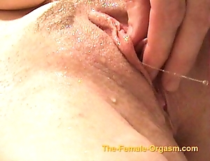 Masturbating together with cumming with faucets, sleet together with more