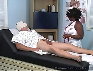 Menacing nurse milking lifeless horseshit
