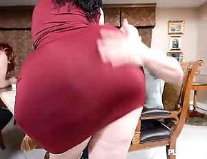 2 bbw pawgs undergo some majuscule dicks