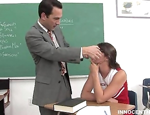 Cute cheerleader facialized unconnected with say no to academician