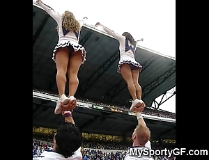 Dictatorial legal age teenager cheerleaders!