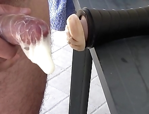 Fleshlight hefty cock-sock creampie