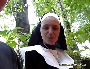 Paradoxical german nun can't live without blarney