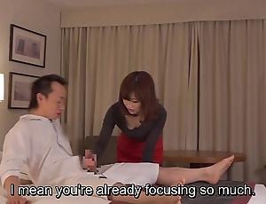 Subtitled cfnm japanese tourist house milf knead leads involving cook jerking