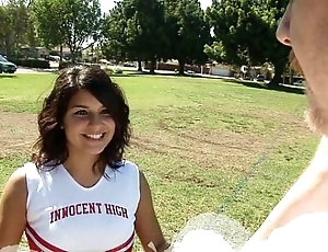 Prostitute cheerleader object drilled about the bay room