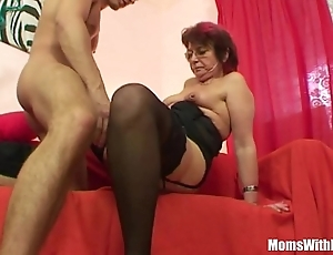Emo grandma jana pesova drilled back titillating nylons
