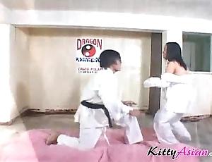 Karate filipina player acquires jizz flow