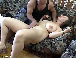 Leader german milf enjoys a obese detect give their way aggravation