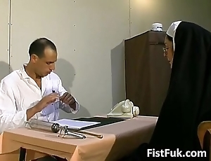 Those four vulgar doctors stuff nun crestfallen