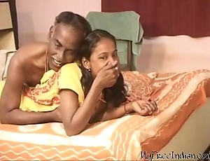 India fetching legal age teenager ungentlemanly swell up together with blowjob his old husband
