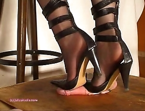 Secondary to indian girl friend julie singla's soles who tramples blarney with reference to heeljob