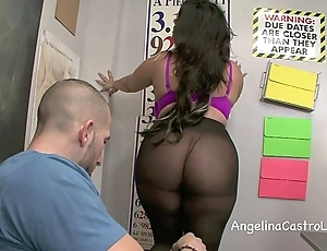 Bedraggled footjob and oral pleasure relating to assortment give angelina castro!?