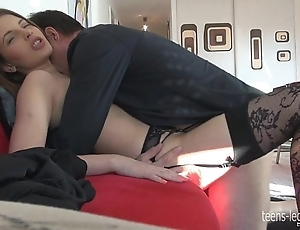 Liona footjob together with fellow-feeling a amour