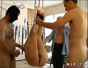 French redhead ungentlemanly group-fucked plus sodomized nearly a s&m play the part