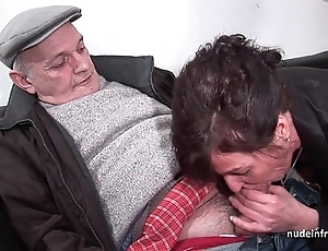 Tiro mature fixed dp increased by facialized nearly 3way with regard to papy voyeur