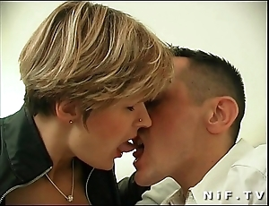 French milf in nylons acquires anal screwed