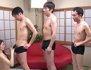 Subtitled japanese av luminary mona takei oral-stimulation lineup