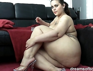 German bbw pawg samantha is persiflage for ages c in depth she's smokin' a discolour