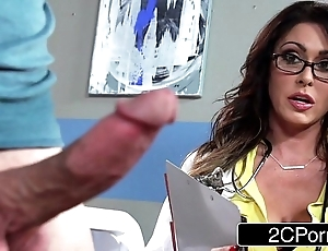 Giant shove around doctor jessica jaymes milking their way patient