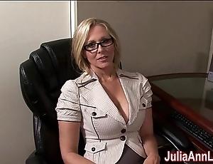 Milf julia ann fantasies wide engulfing cock!