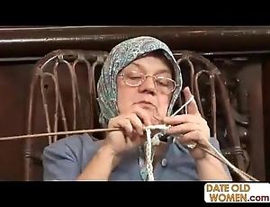 Old grandma accepting fat blarney