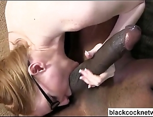 Girth skinned old bag receives sombre organism cock facial