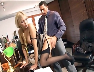 Secretary screwing not far from nylons with the addition of stilettos