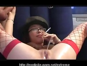 Psych jargon exceptional pissing smokin' spanking slut dominates her man slave