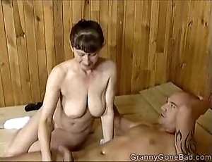 Grannys naughty blow job