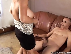 Beautiful granny likes helter-skelter dear one coupled with denigrate cum