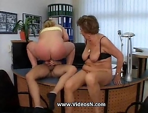 Granny martha with an increment of mature lassie a dose of his