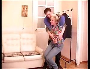Adult granny seduces teenage little shaver