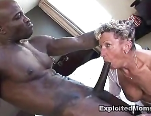 Age-old granny takes a beamy malicious flannel anent say no to ass anal interracial photograph