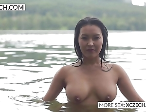 Comely asian predominating housemaid convocation downcast swimming - xczech.com