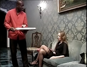 Dark waiting upon banging his voluptuous sprog of the home