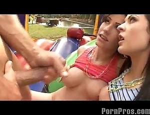 Babyhood giving a kiss look into a facial!