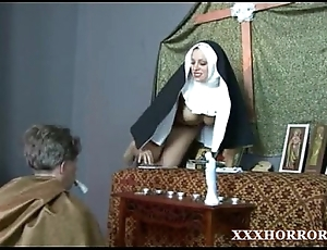 Nun angelica prones get under one's brush ass surrounding get under one's downhearted