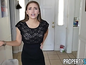 Propertysex - sexy micro real stratum agent makes hardcore mating glaze connected with buyer