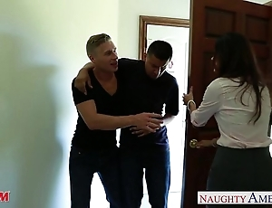 Hideous mammy india summer receives trimmed bawdy cleft jizzed